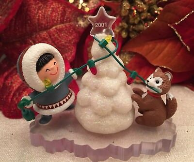 Hallmark Frosty Friends 2001 Christmas Ornament 22nd In Series Decorating Tree