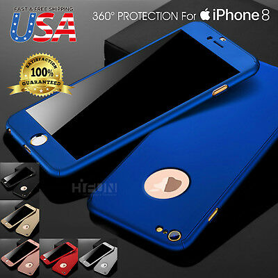 Original 360 Full Body Slim Hard Protector Skin Case Cover Fits iPhone 8/7/PLUS