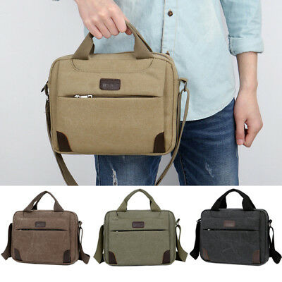 Men's Casual Military Canvas Travel Hiking Satchel School Shoulder Bag Messenger