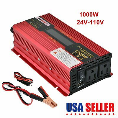 2000W/3000W WATT Car LED Power Inverter Converter DC 12V To AC 110V USB Charger