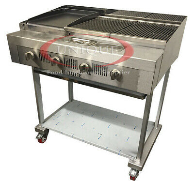 4 Burner Gas Charcoal Bbq Grill / Char-Grill Heavy Duty For Commercial Use 440