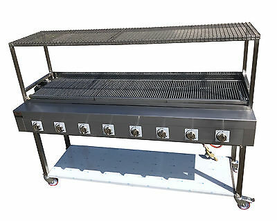 Commercial Barbecue Gas Charcoal Grill Chargrill Robust Design Lavarocks Grill