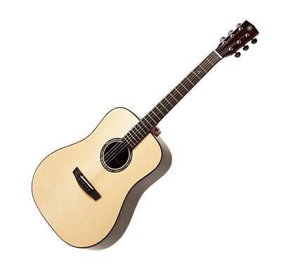 HEX Queen D750 All Solid Wood 1pc Neck Ebony Dreadnought Body Acoustic Guitar