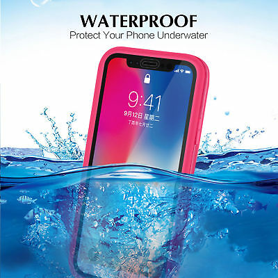 Shockproof Hybrid Rubber Waterproof Phone Case Cover For iPhone Xs Max Xr 8 7 6s