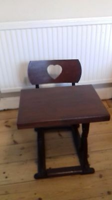 Children's  vintage/antique cast iron/wood school desk. see dimensions