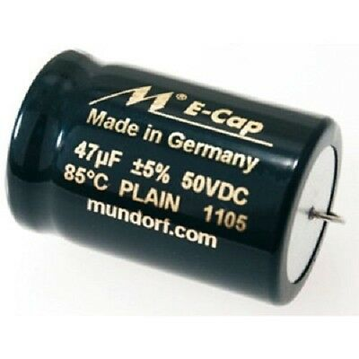 1 Piece Bipolar Smooth Film Electrolyte Capacitors 47,00 Μf 50 Vac Mundorf E-Cap