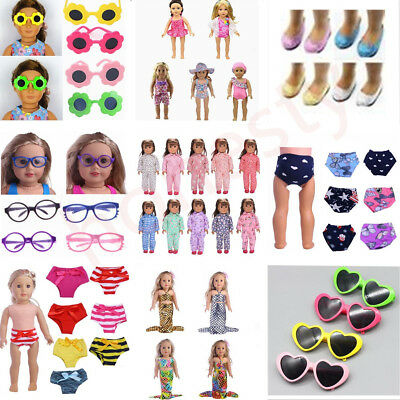 "Various Clothes Glasses Pajamas Shoes for 18"" American Girl Dolls Accessories"