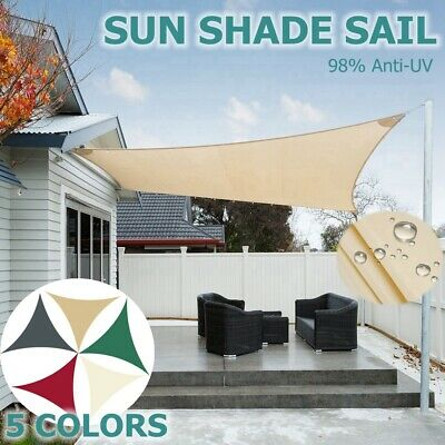 Sun Shade Sail Garden Patio Awning Canopy Sunscreen 98% UV Block Water Resistant