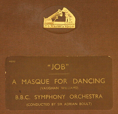 "VAUGHAN WILLIAMS: ""JOB"" A MASQUE FOR DANCING; B.B.C. Symph. Orch. BOULT  5x A201"