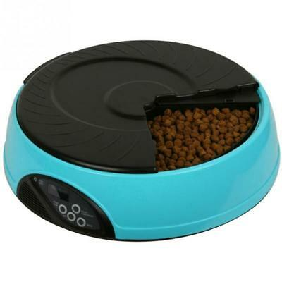 Pet Feeder 6 Meal Timed Automatic Auto Dog Cat Food Bowl Dispenser Programmable