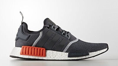 f740dfbff9865 Adidas NMD R1 Wool Grey Orange Red 3M Size 13. S31510 Yeezy Ultra Boost pk