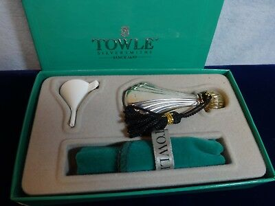 Elegant TOWLE STERLING Silver PERFUME Bottle in Fitted BOX Vintage Set