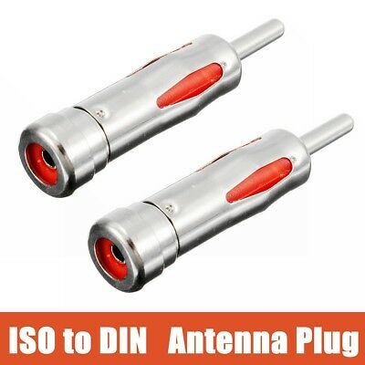 2PCS Car Stereo Radio Antenna Aerial Arial Ariel Adapter ISO to DIN Male Plug UK