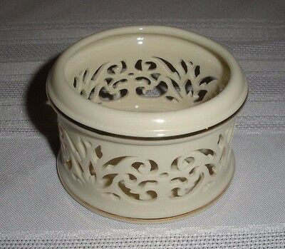 "Lenox Yuletide Candle Votive Holder 2.75x1.75"" high Christmas"