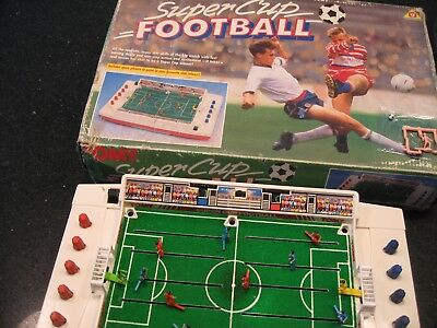 RARE WORKING Vintage TOMY SUPER CUP FOOTBALL Electronic GAME BOXED