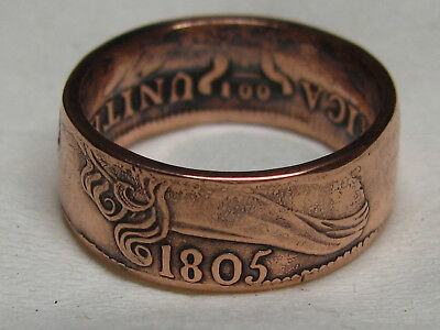 1805 large cent coin ring....wow!!!! size 8.5
