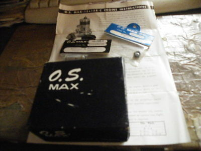 Os Max 15/15 R/c Box,instructions, Piston And Cyl. Liner, New,original, Bagged