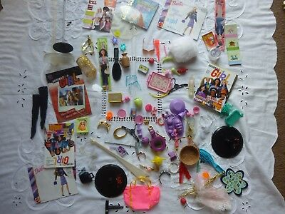 Barbie Fashion Doll Mixed Collection Of Odd Accessories