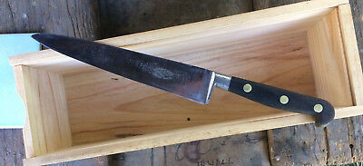 Latham & Owen Carbon Steel Chef Knife Ebony handle  Sheffield