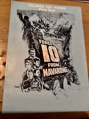 Force 10 from Navarone 1978 UK Campaign Book U.K. quad poster Art Harrison Ford