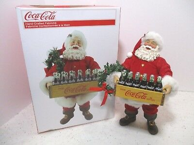 Santa Claus Coca Cola crate Fabriché sculpture Coke Kurt Adler Christmas Figure