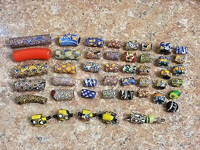 LOT of 47 Vintage Venetian Italian African Trade Beads