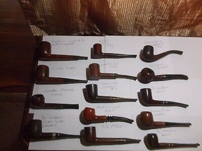 Estate lot of 14 Vintage pipes, Kaywoodie, Dr. Grabow,USED