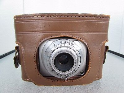 Vintage Ansco Memar Pronto 35mm Film Camera with leather case