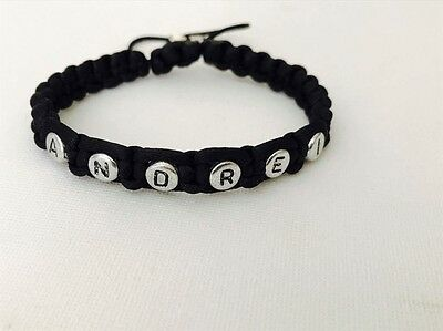 Name Man Personalised Shambala Fashion Bracelet Perfect Gift Dad Uncle Men❤