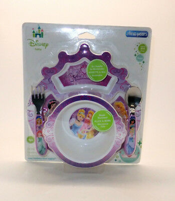 The First Years Disney Princess Baby Toddler Feeding Set 4 Pieces *NEW* RA1/16