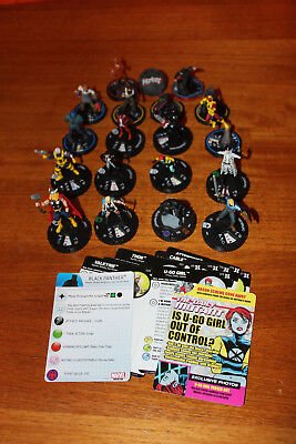18 Marvel Heroclix - Deadpool - Black Panther - The Mighty Thor ua.