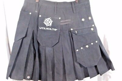 WORKMAN Black UTILIKILT Size 38 Length 21.5 Inches