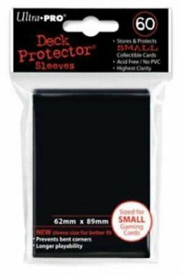 60 Ultra Pro DECK PROTECTOR Card Sleeves Black Yu-Gi-Oh Vanguard Card Protectors