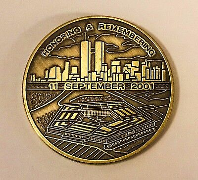 New York City Twin Towers Honoring & Remembering September 9/11 Special Coin