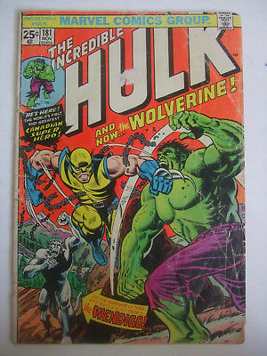 The Incredible Hulk #181 (Nov 1974, Marvel) - Complete with stamp