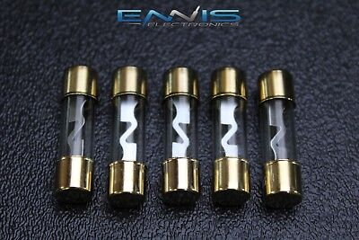5 Pack 40 Amp Agu Fuse Fuses Gold 5 pack gold plated high quality glass 50 amp car audio amp inline