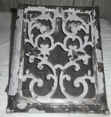 Antique Cast Iron Victorian Heat Grate Register Floor--Wall Vent 12 X 10   A