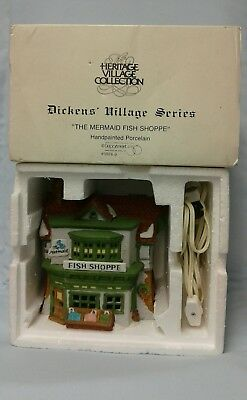 "Department 56 Dickens' Village Series 1988 ""THE MERMAID FISH SHOPPE"" 59269"
