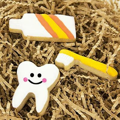 3pc Stainless Steel Biscuits Mold Toothpaste Toothbrush Tooth Cake Cutter Cute B