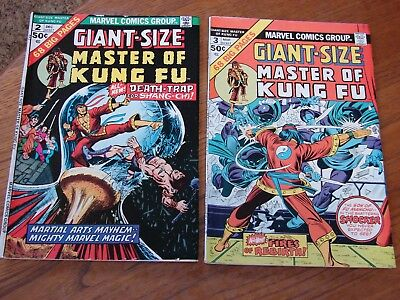 Giant Size Master of Kung Fu - Lot of 2, #2 & 3