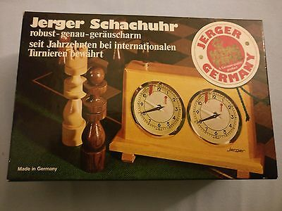 Jerger Schachuhr King Time OVP Made in Germany Holzgehäuse Sehr guter Zustand