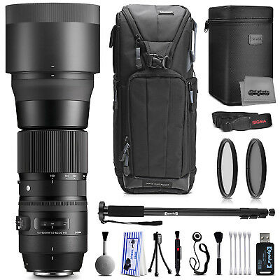 Sigma 150-600mm F5-6.3 DG OS HSM Zoom Lens for Nikon with Filter Accessory Kit