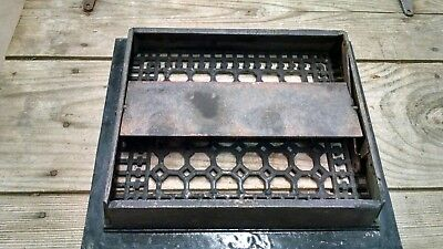 Antique/ Vintage Late 1800's Ornate Cast Iron Floor Grate-​ Strong -Made In USA