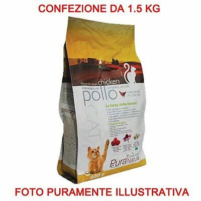 Pure Nature Cover Croquettes Cat Adult 1.5 Kg Chicken Food Cat