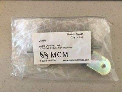100w 8 Ohm Non-inductive Resistor Power Amplifier Test Dummy Load - MCM