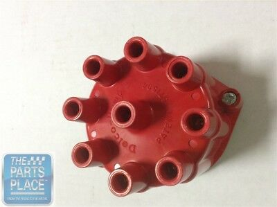 1958-74 Chevrolet Impala Delco Distributor Cap Red For 8 Cylinder With Fat Cap