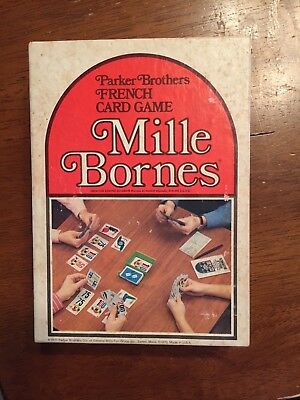 Parker Brothers MILLE BORNES French card game 1971 Vintage, cards never opened