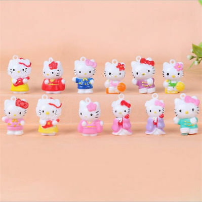 12pcs Hello Kitty Anime Mini Figures Cute Figurine Display Kids Toy Gift