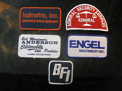 Vintage 1980's-90s Embroidered Printed Uniform Patch Lot (5) Anderson Oldsmobile
