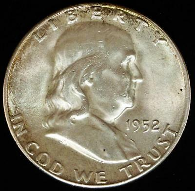 1952-S Franklin Half Dollar Brilliant Uncirculated BU MS++